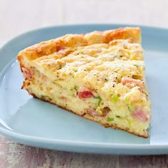 Impossible Ham and Cheese Pie- Cook's Country Version @keyingredient #cheese #vegetables #pie