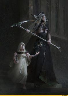 красивые картинки,BilberryCat,art,арт,artist,мифология,Мара,Девять Божеств,TES Персонажи,The Elder Scrolls,фэндомы,Мрачные картинки,удалённое