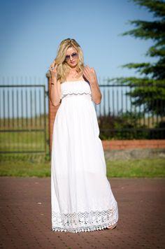 white summer dress| daiami.pl