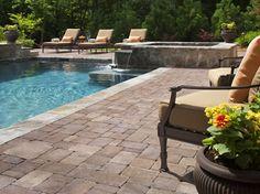Pool Patio With Spa Pavers