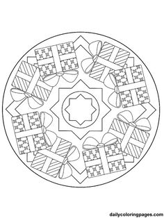 Christmas Mandala Coloring Pages | mandala christmas ornaments 044