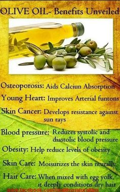 The Benefits of Olive Oil - Interesting facts about the benefits of olive oil.  #oliveoil  https://www.facebook.com/FirstFresh