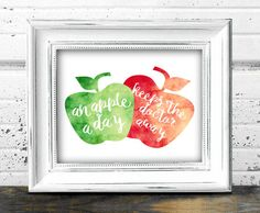 Apple Wall Art // Instant Download Printable by Print4Yourself