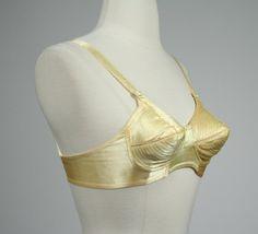 33f3883c5a 1950 s bullet bra circle stitch gold yellow by DottieMaeVintage Bullet Bra