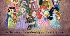 Aqui nós já colocamos diversas versões da princesas  como monstras  ou lutadoras , mas agora estão numa versão muito mais light e cute.  Se ...
