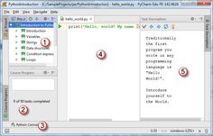 PyCharm Edu :: Quick Start Guide :: Getting Started for Students