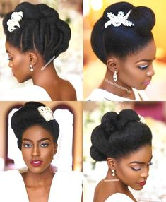 28 Bridal Hairstyles For Natural Hair - HiswordMybeauty Sporty Hairstyles, African Braids Hairstyles, Twist Hairstyles, Bride Hairstyles, Black Hairstyles, Dreadlock Hairstyles, Updo Hairstyle, Celebrity Hairstyles, Natural Hair Wedding