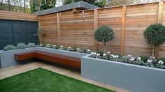 slatted fence screens and grey fence panels - Google Search
