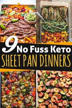 These 9 quick and easy sheet pan dinners are perfect for a keto, paleo, low-carb or gluten-free meal plan. For a healthy meal in a flash, whip up these simple recipes! Recipes low carb 9 No Fuss Keto Sheet Pan Dinners Healthy Low Carb Recipes, Low Carb Dinner Recipes, Keto Dinner, Diet Recipes, Paleo Food, Simple Low Carb Meals, Simple Recipes For Dinner, Healthy Low Carb Meals, Easy Low Carb Meal Plan