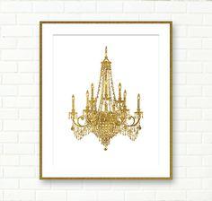 120 best printable art images on pinterest printable art fashion chandelier print gold chandelier instant download chandelier wall art gold glitter dining room wall decor printable retro victorian aloadofball Images
