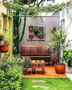 Home Garden Design, Backyard Garden Design, Small Garden Design, Backyard Patio, Home And Garden, Balcony Garden, Apartment Backyard, Garden Bed, Backyard Designs