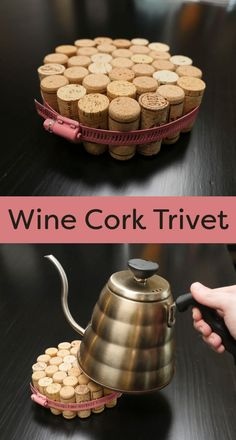 This is a quick and easy project to make, once you have enough wine corks, or you can buy them online or from a home brewing store.