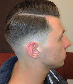 side part Very Short Haircuts, Men's Haircuts, Men's Hairstyles, Haircuts For Men, Hair Trends 2015, Mens Hair Trends, Tapered Haircut, Fade Haircut, Brylcreem Hairstyles