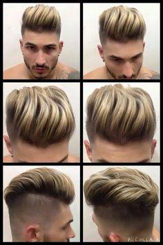 . Men Hair Color Highlights, Drop Fade Haircut, Mens Hairstyles Fade, Gents Hair Style, Mens Hair Colour, Pompadour Hairstyle, Beard Styles, Hair Trends, Short Hair Styles