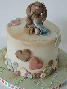 Cute bunny baby shower cake