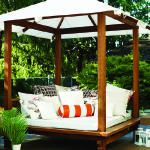 The Sweetwater Cabana outdoor daybed Outdoor Daybed, Outdoor Lounge, Outdoor Rooms, Outdoor Living, Outdoor Decor, Outdoor Retreat, Outdoor Fun, Gazebos, Traditional Porch