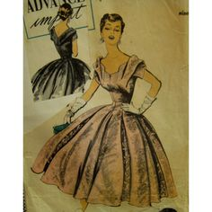 1950s Norman Hartnell Evening Gown Pattern Fitted by VogueVixens