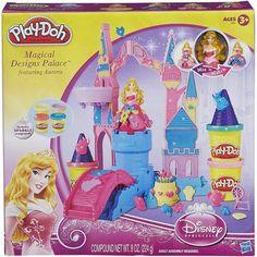 "Play-Doh Mix 'n Match Magical Designs Palace Set Featuring Disney Princess Aurora - Hasbro - Toys ""R"" Us Disney Princess Toys, Disney Princess Aurora, Disney Toys, Christmas Toys, Great Christmas Gifts, Christmas Presents, Little Pony, Little Girls, Frozen Birthday"