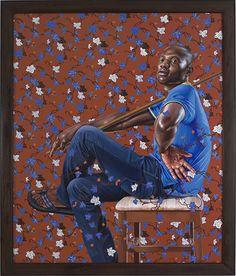 "Monsieur Seriziat, 2012 Oil on canvas 84 "" x 70"""