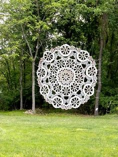 HOw cool is this !!!!   ....crochet yourself a secret place in the garden