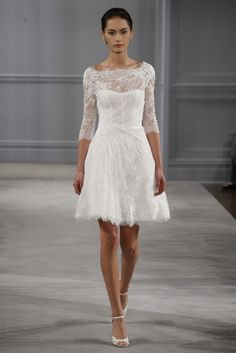 Monique Lhuillier SS 2014 | Fly Away Bride