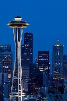 The Space Needle is a tower in Seattle, Washington and a major landmark of the Pacific Northwest region of the United States and a symbol of Seattle.
