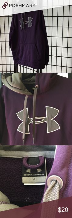 Worn once if that. Under armor sweatshirt. This was possibly worn once. Purple and grey. I truly believe this is MENS !! So this xl isn't a true women's xl. Smoke free home Under Armour Tops Sweatshirts & Hoodies