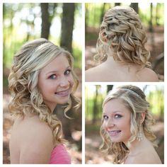 Prom hair, homecoming hair Hair by Angela Lewis @Hannah Mestel Mestel Coon @Angela Gray Gray Lewis