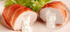 Philadelphia Ovnstegte kyllingebryster med flødeostfyld og parmaskinke