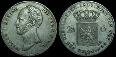 Netherlands 2.5 Gulden Willem II 1847