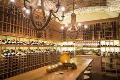 The wine cellar in Stephen and Debbie Holmes's Santa Rosa Beach, Fla., home.