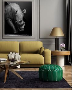 "Classic will always be in. Art piece: ""Matija""#twopalms #art #design #decor #interiors #interiordesign #blackandwhite #photograph #safari #rhino #classic"