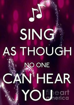 i do this! I love singing. But I wish I had the confident to sing out loud or in front of people. But one day I will be ready and praying to god he will give me strength to sing out aloud because I love to sing Singing Quotes, Singing Lessons, Singing Tips, Singing In The Rain, Music Quotes, Learn Singing, Music Sing, My Music, Music Lyrics