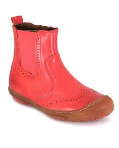 Bisgaard Brogue Boot In Peach    Igloo Kids Clothing