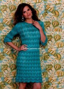 Lace Columns Dress http://knitted-patterns.com/knitting-for-women/knitting/dresses-tunics/3352-lace-columns-dress