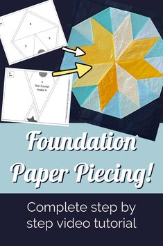 Step by Step tutorial to learn FPP. Lets make a block with FPP for the center of a gorgeous medallion quilt Paper Piecing Patterns, Quilt Patterns Free, Quilting 101, Medallion Quilt, Foundation Paper Piecing, Summer Sky, Quilt Top, Video Tutorials, Good Advice