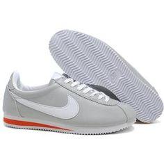 the latest c566c 86282 Leather Light Gray White Women Nike Cortez Nike Cortez Shoes, Nike Cortez  Leather, Nike
