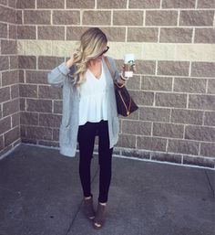 Amanda West: If it's going to continue to be cold I might as well get all the cutie cardigans, right! Weekend Style, Weekend Wear, Fall Winter Outfits, Autumn Winter Fashion, Winter Style, Shop This Look Outfits, Turtleneck Sweatshirt, Sweater, Preppy Outfits