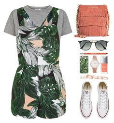 """""""Benita {TOP SET}"""" by vandesousa ❤ liked on Polyvore featuring Topshop, Converse, Christian Dior, Casetify, Ray-Ban, Urban Decay, Kendra Scott, Larsson & Jennings and Burberry"""