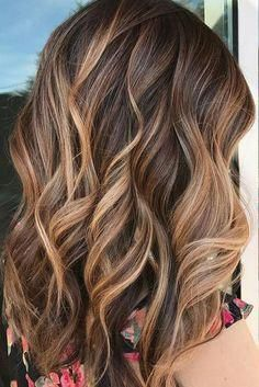 Fall hair color inspo: A perfectly executed balayage to give this client caramel, sunkissed highlights. Fall hair color inspo: A perfectly executed balayage to give this client caramel, sunkissed highlights. Brown Hair With Blonde Highlights, Caramel Hair Highlights, Balayage Hair Brunette Caramel, Chunky Highlights, Blonde Ombre, Brown Hair With Caramel Highlights Medium, Brunette Highlights Summer, Highlighted Hair For Brunettes, Brunette Highlights Lowlights