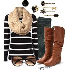 A fashion look from November 2012 featuring Wallis sweaters, Steve Madden ankle booties and Kate Spade earrings. Browse and shop related looks.