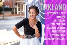 Hey loves! I'll be cutting in Oakland on September 1.