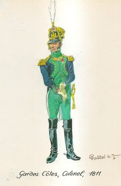 French; Coastal Defence Artillery, Colonel, 1811 by H.Knotel,