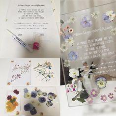 アクリル板と押し花でDIYする可愛い結婚証明書の作り方   marry[マリー]