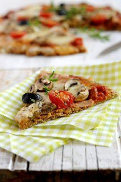 Pizza avec pâte au son d'avoine  - Saines Gourmandises... par Marie Chioca