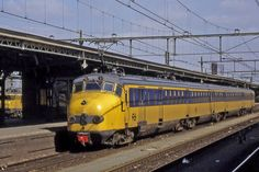 Roosendaal NS, the classic Dutch train from the 70s