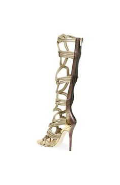Jimmy Choo 'Kalmar' Braided Rope Gladiator Sandal $1995 Gold | Nordstrom