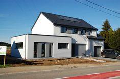 Habitation Freylinger C House Designs Ireland, Architecture, Facade, Garage Doors, Shed, Outdoor Structures, Outdoor Decor, Home Decor, New Construction