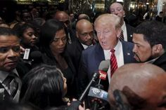 Presidential candidate Donald Trump speaks to the media after meeting with a group of black pastors at his office in Manhattan. (Photo: Lucas Jackson/Reuters)