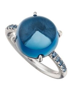 Blue Topaz and Sapphire Cabochon Ring, Size 6.75 - Jane Taylor in the Precious Jewelry Fashion Dash at @Janet Stansberry Call Last Call by Neiman Marcus